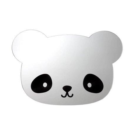 A Little Lovely Company Kinderspiegel Panda acryl plexiglas 36x24x0,3cm