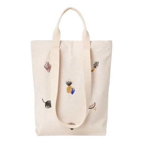 Ferm Living kids Carry bag Fruiticana cotton canvas 45x34cm