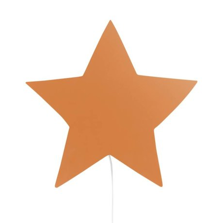 Ferm Living kids Wall lamp Star mustard oak 33x29,8x6,5cm