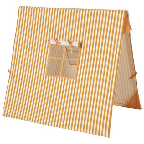 Ferm Living kids Children's tent Mustard Thin Striped cotton wood 100x100cm