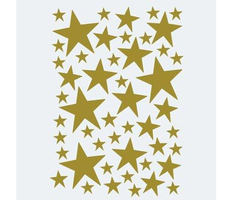 Ferm Living kids Wall sticker Mini Stars gold 49 pieces