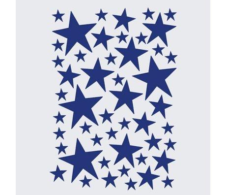 Ferm Living kids Wall sticker Mini Stars blue 49 pieces