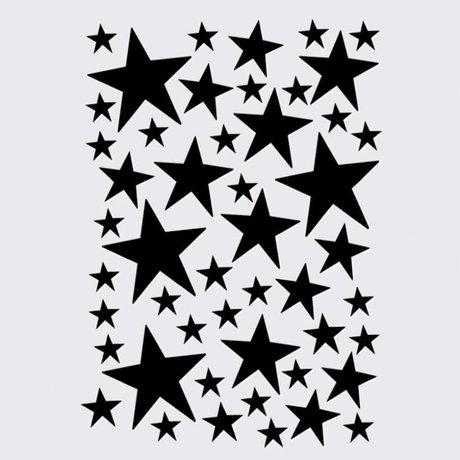 Ferm Living kids Muursticker Mini Stars zwart 49 stuks