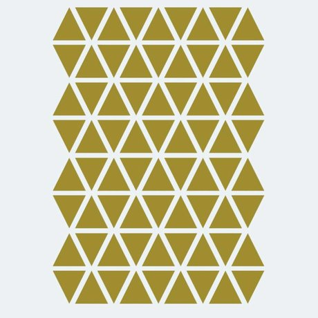 Ferm Living kids Wall sticker Mini Triangles gold 72 pieces