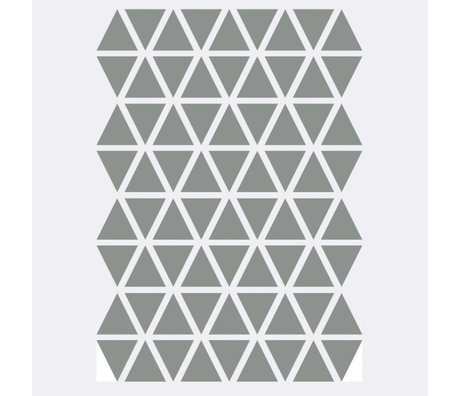 Ferm Living kids Muursticker Mini Triangles grijs 72 stuks