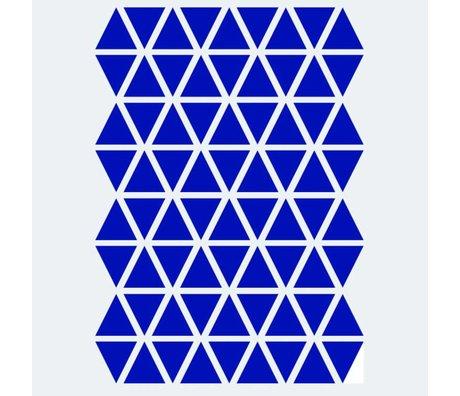 Ferm Living kids Wall sticker Mini Triangles blue 72 pieces