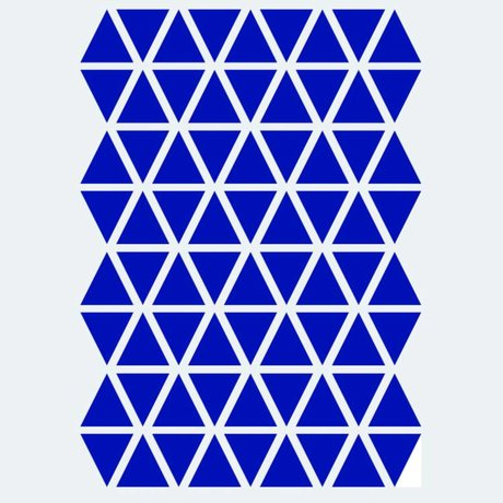 Ferm Living kids Muursticker Mini Triangles blauw 72 stuks