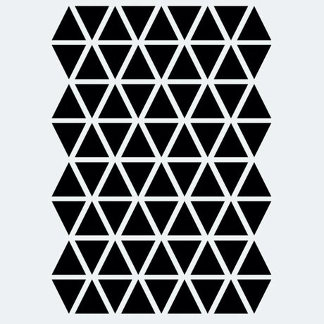 Wall sticker Mini Triangles black 72 pieces
