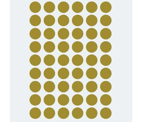 Ferm Living kids Muursticker Mini Dots goud 54 stuks