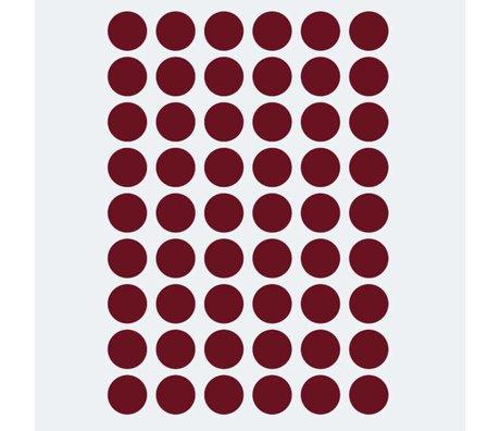 Ferm Living kids Wall sticker Mini Dots red 54 pieces