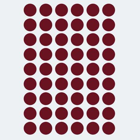 Ferm Living kids Muursticker Mini Dots rood 54 stuks