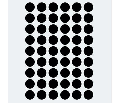 Ferm Living kids Muursticker Mini Dots zwart 54 stuks