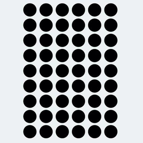 Ferm Living kids Wall sticker Mini Dots black 54 pieces