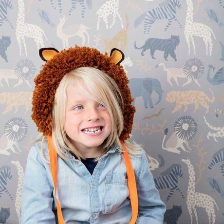 Ferm Living kids Children wallpaper Safari