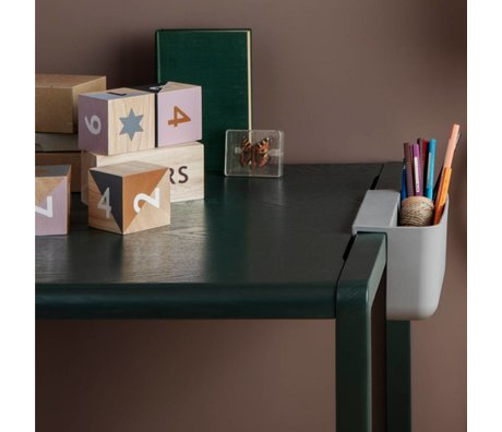 Ferm Living kids Kindertafel Little Architect donkergroen hout 76x55x43cm