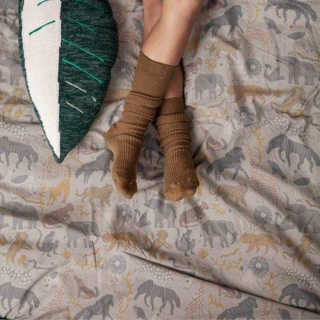 Ferm Living kids Dekbedovertrek Safari tiener katoen 140x200/63x60cm katoen