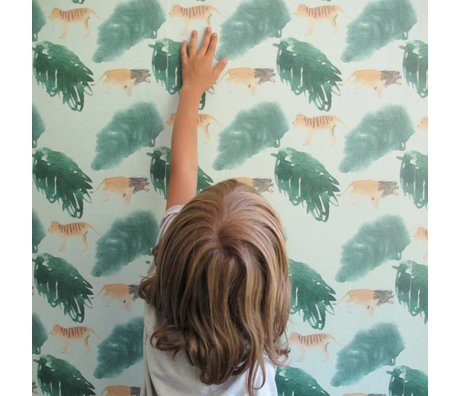 NOFRED Children wallpaper Safari multicolour non-woven wallpaper 50x62,19cm