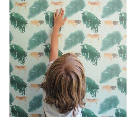 NOFRED Kinderbehang Safari multicolour vliesbehang 50x62,19cm