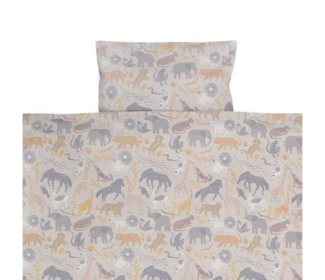 Ferm Living kids Duvet cover Safari baby cotton 70x100 / 46x40cm