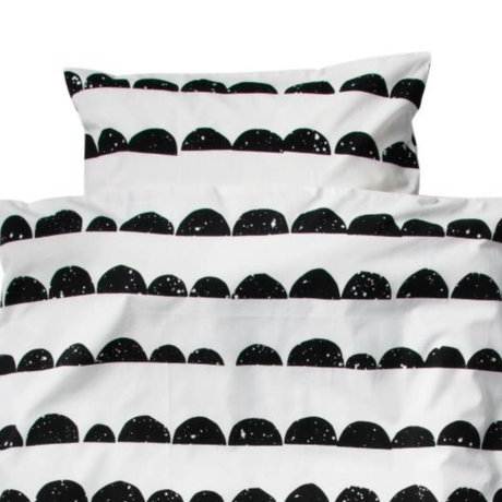 Ferm Living kids Children's Well Halfmoon black white cotton-46x40cm 70x100cm