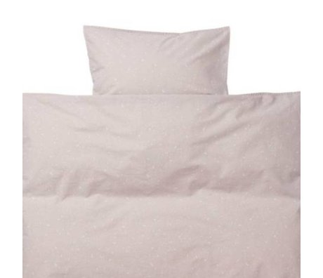 Ferm Living kids Children's bedding Hush Milkyway light pink cotton 70x100cm-46x40cm