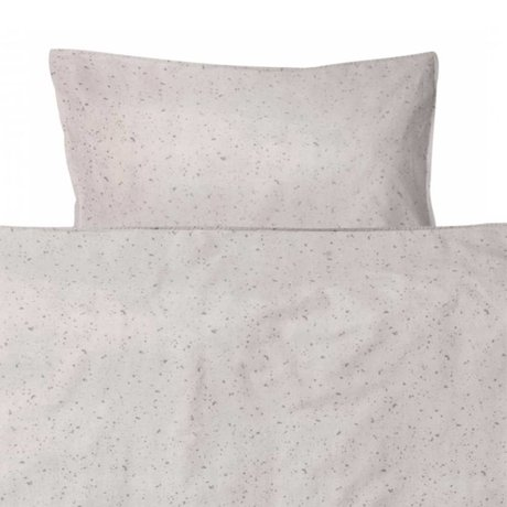 Ferm Living kids Children's bed linen Hush Milkyway cream cotton 70x100cm-46x40cm