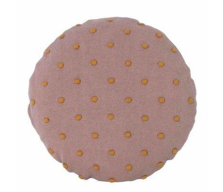 Ferm Living kids Kinderkussen Popcorn Round roze katoen Ø40cm
