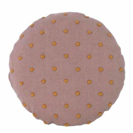 Ferm Living kids Children's pillow Popcorn Round pink cotton Ø40cm