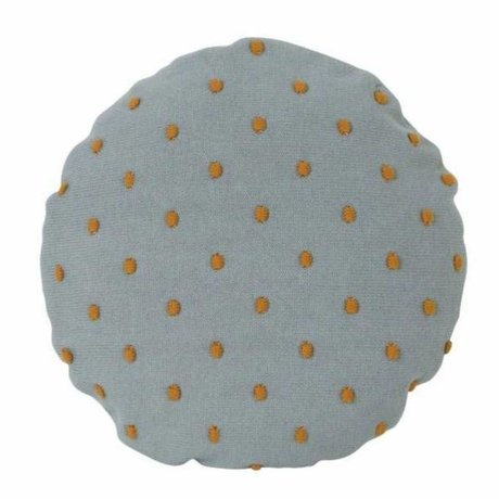 Ferm Living kids Children's pillow Popcorn Round mint green cotton Ø40cm
