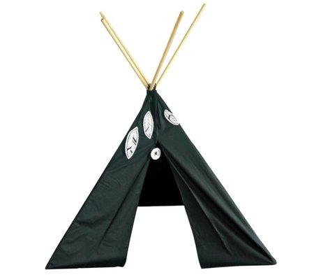 A Little Lovely Company Kinder tent Tipi zwart katoen 100x100x100cm