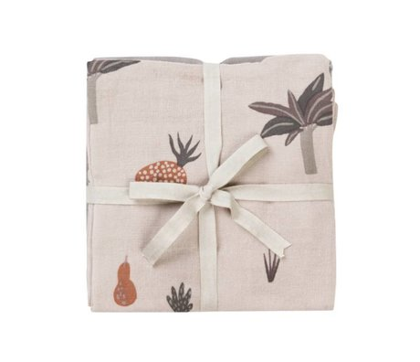Ferm Living kids Hydrophilic cloth Fruiticana cotton 70x70cm set of 3 pieces