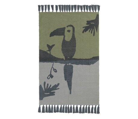 NOFRED Children's rug Toucan green cotton 100x150cm