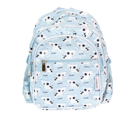 A Little Lovely Company Backpack Dogs light blue acrylic 30x33x14,5cm