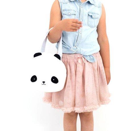 A Little Lovely Company Handtasje Panda wit zwart 16x19x11,5cm