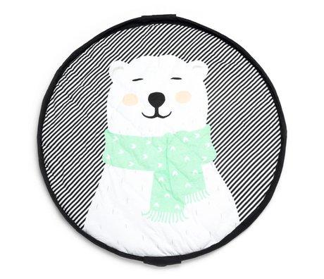 Play & Go Opbergzak/speelkleed/luiertas Polas bear groen jersey-katoen ⌀120cm