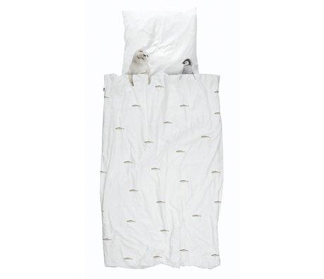 Snurk Beddengoed Duvet cover Artic friends white cotton 140x200 / 220cm + 60x70cm