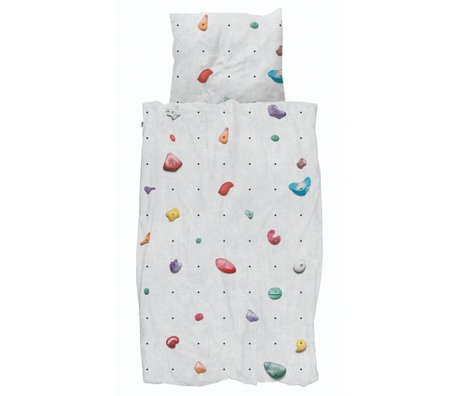 Snurk Beddengoed Dekbedovertrek Climbing Wall multicolour katoen 140x200/220cm + 60x70cm