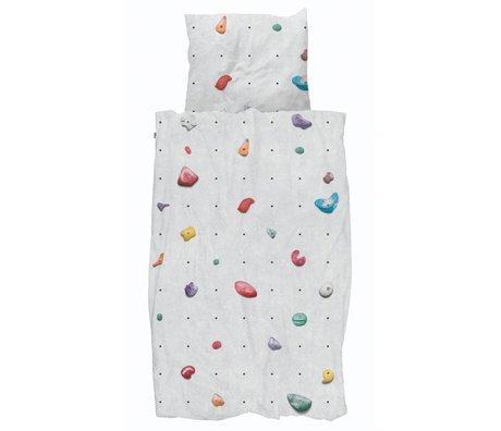 Snurk Beddengoed Duvet cover Climbing Wall multicolour cotton 140x200 / 220cm + 60x70cm