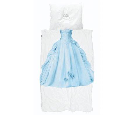 Snurk Beddengoed Dekbedovertrek Princess Blue blauw wit katoen 140x200/220cm + 60x70cm
