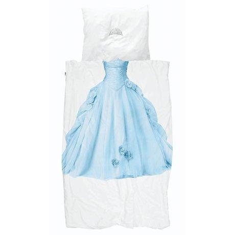 Snurk Beddengoed Duvet cover Princess Blue blue white cotton 140x200 / 220cm + 60x70cm