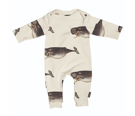 Snurk Beddengoed Romper whale The Dybdahl cotton size 68