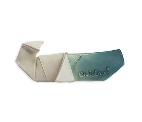 Oli & Carol Bath toy and bite toy H2origami Whale blue white
