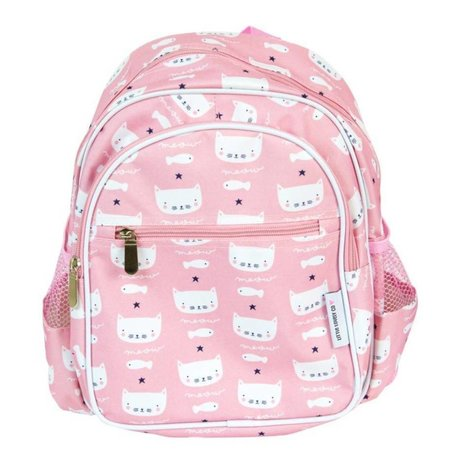 A Little Lovely Company Kids backpack Cats pink 30x33x14,5cm