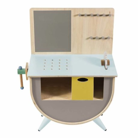 Sebra Kinder speelgoed werkbank hout 58x38x81,5cm