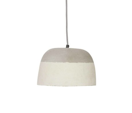 BePureHome Hanging lamp Dawn gray resin paper ∅26x18cm