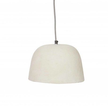 BePureHome Hanglamp Dawn wit resin papier ∅26x18cm