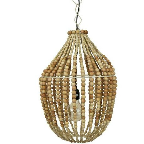 BePureHome Hanging lamp Funale chandelier light brown wood L54x∅42cm