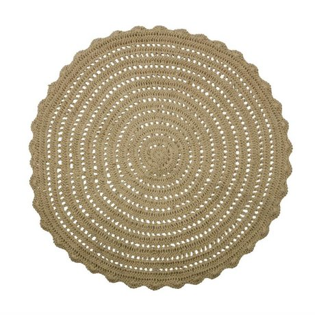 BePureHome Carpet Corn brown burlap ∅150cm