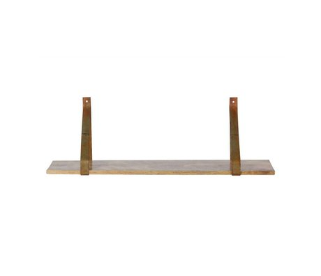 BePureHome Wall shelf Weldone rust orange metal wood 25x80x25cm
