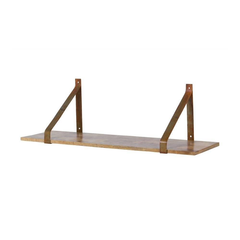 Wandplank Zwart Metaal Hout.Wandplank Weldone Roest Oranje Metaal Hout 25x80x25cm Wonenmetlefkids